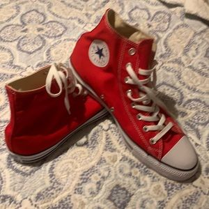 New Red Converse All Star high tops
